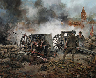 Battle of Belchite (1937) - Painting of Battle by Augusto Ferrer-Dalmau