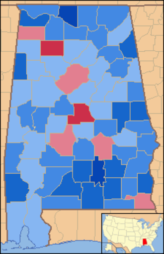 United States presidential election in Alabama, 1960 - Image: Alabama Locator Map with US 1960 election