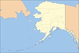 Stedets beliggenhed i Alaska