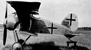 Idflieg aircraft designation system - Albatros D.XI prototype showing type designation displayed as part of serial number marking