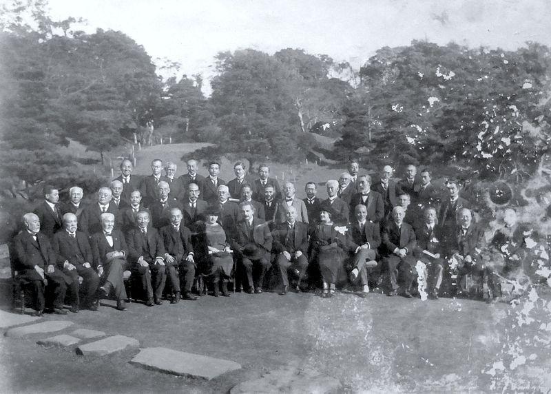小石川植物園での歓迎会の様子(1922年11月29日)Wikipediaより