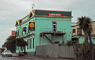 Shannon, New Zealand - Albion Hotel, which burnt down in 2013