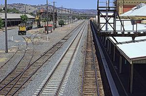 Albury railway station - Image: Albury railway station tracks and locomotive
