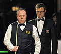 Alex Crisan and John Higgins at Snooker German Masters (Martin Rulsch) 2014-01-29 01.jpg
