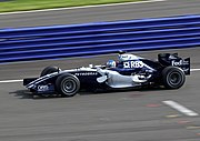Wurz testing for Williams at Silverstone in 2006.