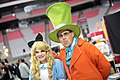 Alice in Wonderland & Mad Hatter cosplayers (23488713592).jpg