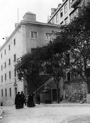 Cadeia do Aljube - View of the prison in the early 20th century
