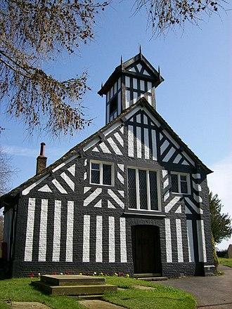 Siddington, Cheshire - Image: All Saints, Siddington, west end