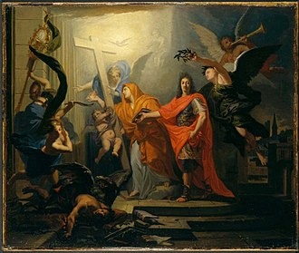 Treaty of Utrecht - Allegory of the Peace of Utrecht by Antoine Rivalz.