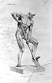 Alphonse Lami; digging ecorche. Wellcome L0025111.jpg
