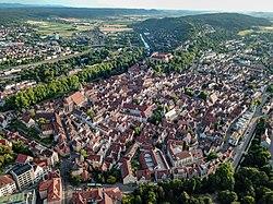 Tübingen vista de cima em junho de 2018