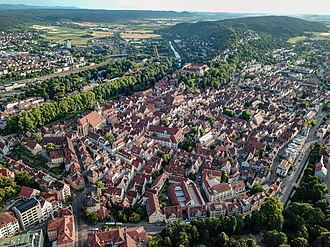Tübingen - Tübingen seen from a birds perspective in June 2018.