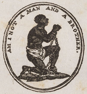 Personhood - Am I not a man emblem used during the campaign to abolish slavery