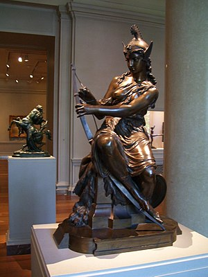 Pierre-Eugène-Emile Hébert - Amazon Preparing for Battle, 1860, Washington, D.C., National Gallery of Art.