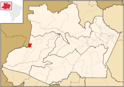 Location of the municipality inside Amazonas