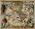 America or the New World map by Theodor de Bry 1596.jpg