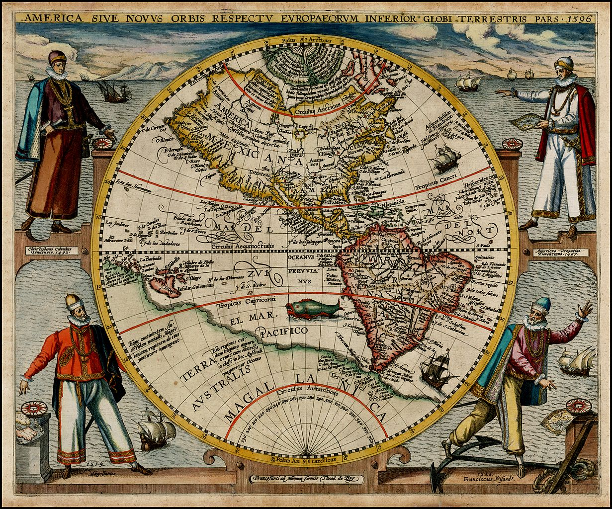 File America or the New World map by Theodor de Bry Wikimedia Commons