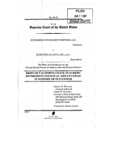 File:Amicus brief - Stoneridge v Scientific-Atlanta - California State Teachers' Retirement System.pdf