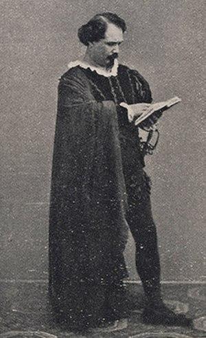 Amleto - Mario Tiberini as Amleto (1865)