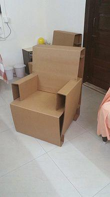 Cardboard Chair By Amrish Kawa