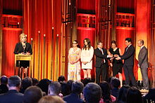 amy schumer with the crew of inside amy schumer at the 74th annual peabody awards