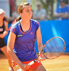 Ana Vrljić playing net 2014 Nürnberger Versicherungscup 20-05-2014.jpg