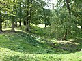 Ancient moat at Cressy Hall (geograph 4139775).jpg