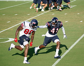 Andre Johnson - Johnson (80) during Texans practice in 2010.