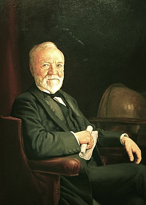 Carnegie library - Image: Andrew Carnegie in National Portrait Gallery IMG 4441