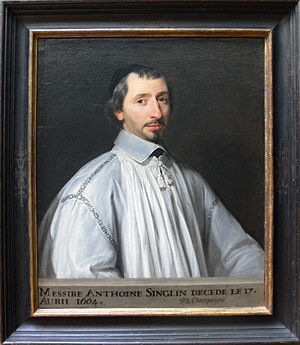 Antoine Singlin - Antoine Singlin - Philippe de Champaigne - Getty Museum - with frame