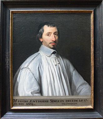 Antoine Singlin - Antoine Singlin - Philippe de Champaigne - Getty Museum - with frame