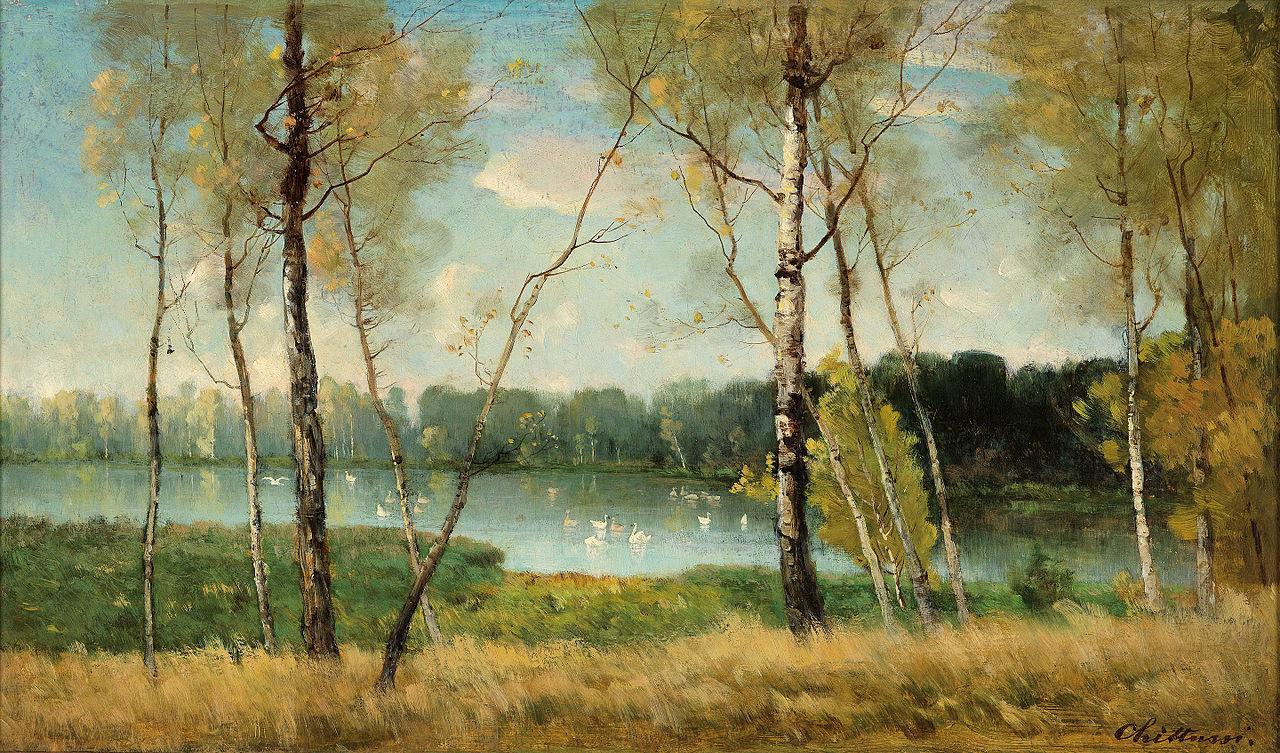 Antonín Chittussi - Jezero v Ermenonville (1882)