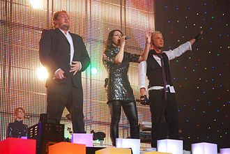 Ace of Base - Jonas, Jenny and Ulf during a concert in Saint Petersburg, 2007.