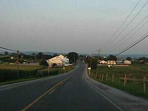 Pennsylvania Route 340 - PA 340 approaching White Horse