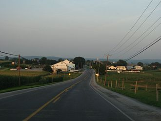 Pennsylvania Route 340 - PA 340 approaching White Horse