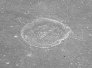 Arago (lunar crater) - Oblique view from Apollo 15