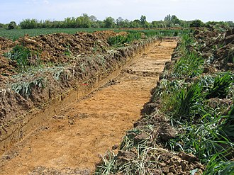 Trench - Archaeological trench on an English farm site