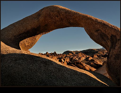 Arches in Alabama Hills California