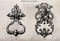 Architecture; two designs for door knockers. Wood engraving Wellcome V0024295.jpg