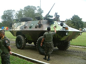 Armed Forces of Guatemala - An Armadillo APC.