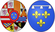 Arms of Louise Élisabeth d'Orléans (1709-1742), Queen consort of Spain.png