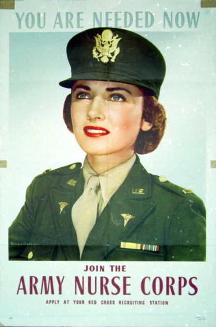 World War II Army Nurse Corps recruiting poster.