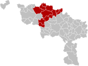 Arrondissement of Ath - Image: Arrondissement Ath Belgium Map