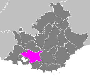 Arrondissement of Aix-en-Provence - Image: Arrondissement d Aix en Provence