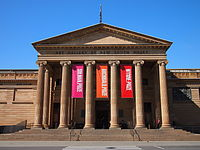 The entrance to the Art Gallery of New South Wales