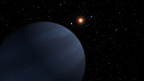 Artist's concept shows four of the five planets that orbit 55 Cancri, a star much like our own.jpg