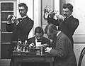 Artsen in laboratorium van Gasthuis Calvariënberg, 1895-96 (RHCL, VKG 084) (cropped).jpg
