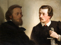 Artur Grottger - portret Wł. hr. Tarnowskiego (po lewej). Śniatynka, 1866; Andrzej Grabowski - portret St. hr. Tarnowskiego (po prawej). Śniatynka, 1872. Olejny na płótnie..png
