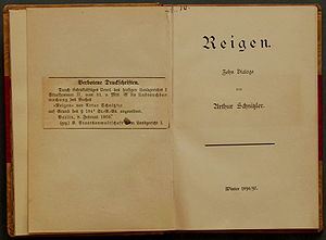 La Ronde (play) - 1900 print of Reigen. 200 copies were printed.