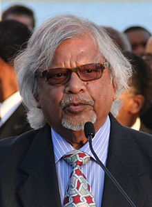 Arun Gandhi at Martin Luther King, Jr. Memorial 4 April 2012 crop (cropped).jpg